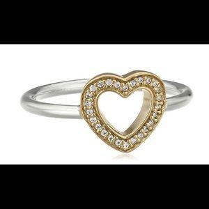 Pandora 14K Gold & sterling Silver ring